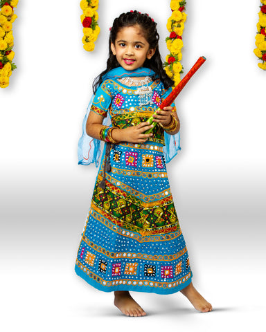 Blue Girls Chaniya Choli