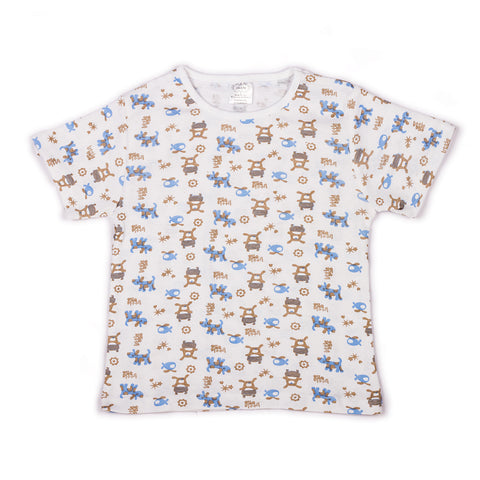 Little one infant boys printed t shirt