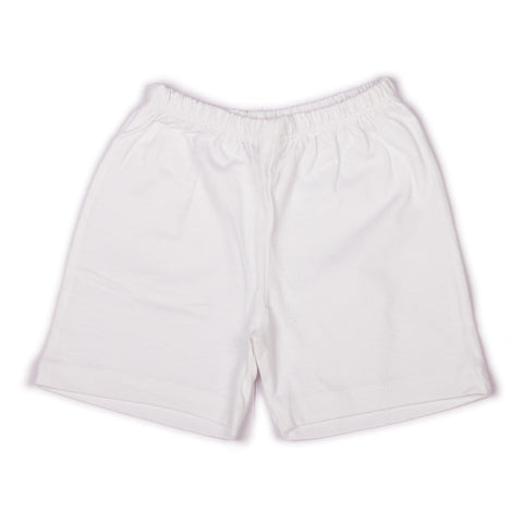 Solid white infant boys shorts