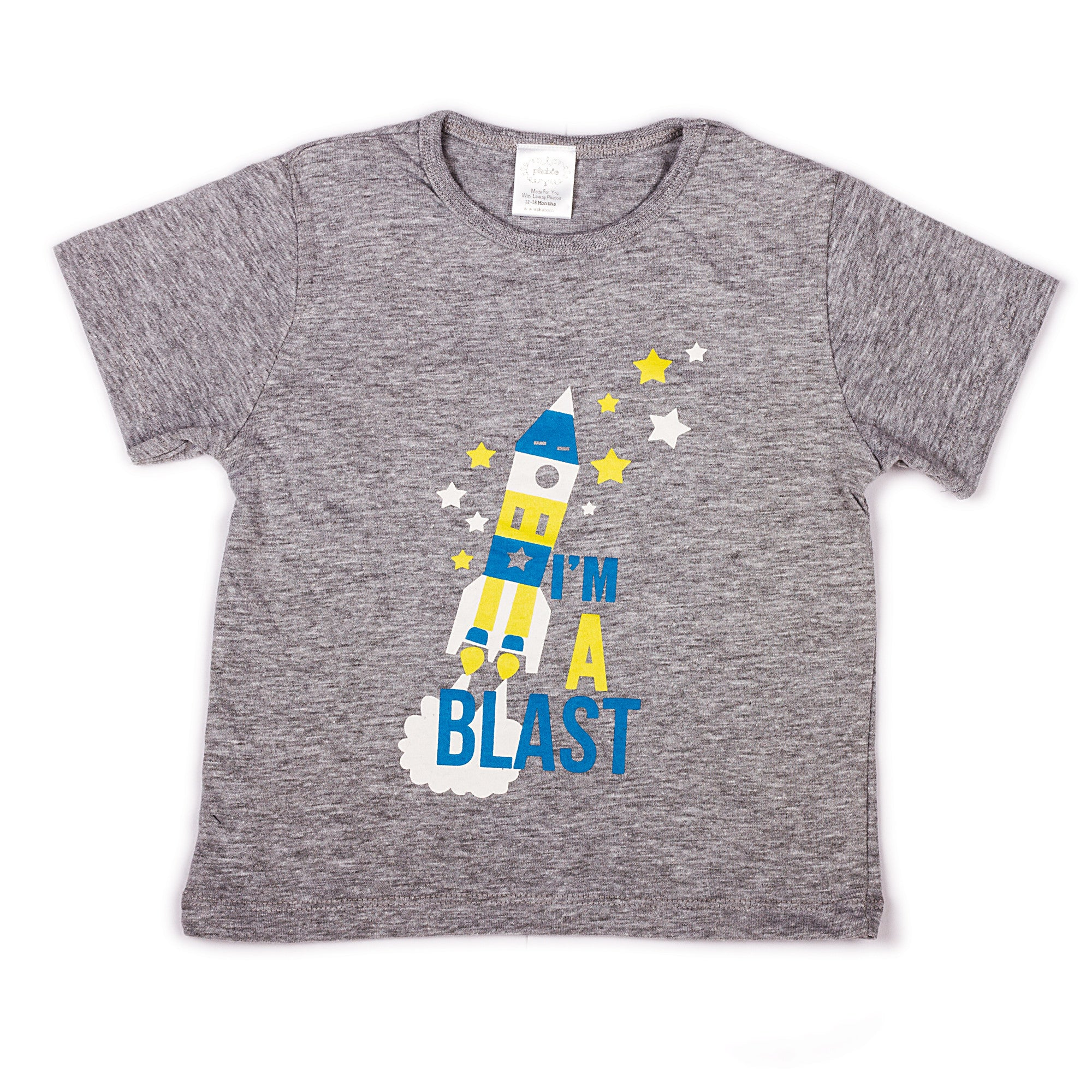 3750e3374de Check COD Availability. Check. Grey Melange with chest printed infant boys t  shirt ...