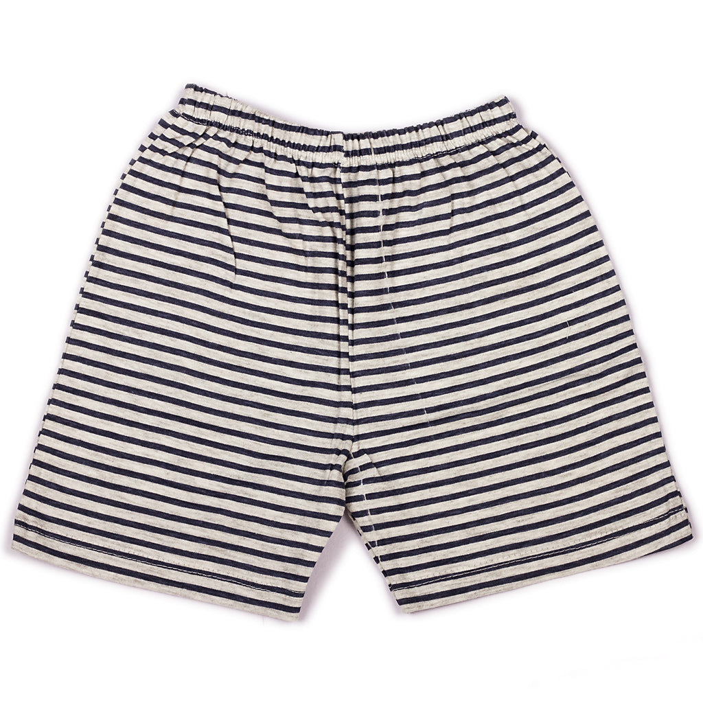 Navy stripe printed infant boys shorts