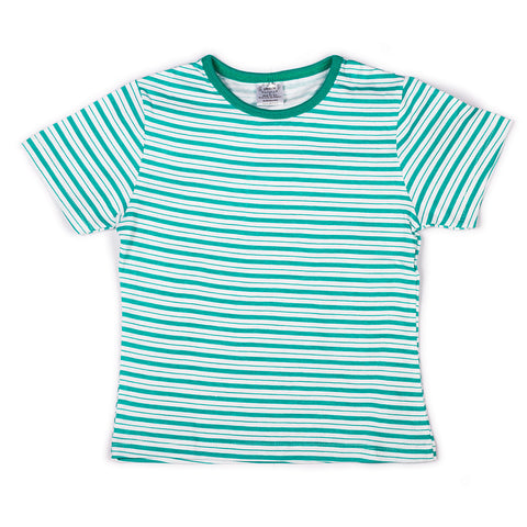 Green stripe printed infant boys t shirt