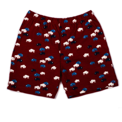 Cow printed infant boys shorts