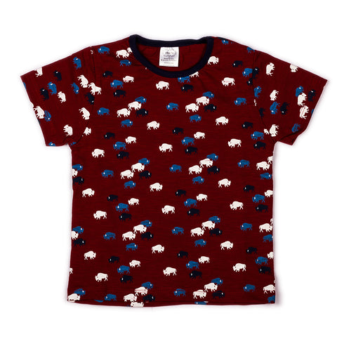 Cow printed infant boys t shirt