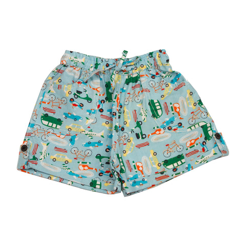 Vehicle printed infant boys Cotton Shorts