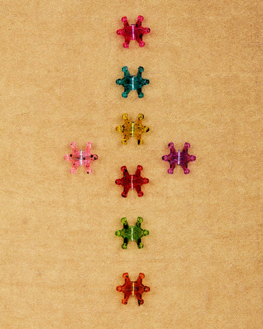 pack of 8 tiny claw hair clips - transparent collection