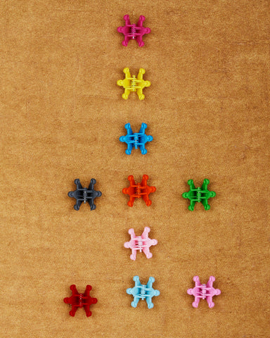 Pack of 10 tiny claw hair clips - solid collection