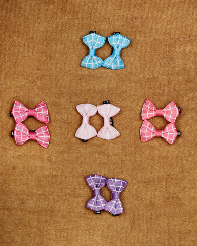Combo of 5 pairs of bow alligator hair clips.