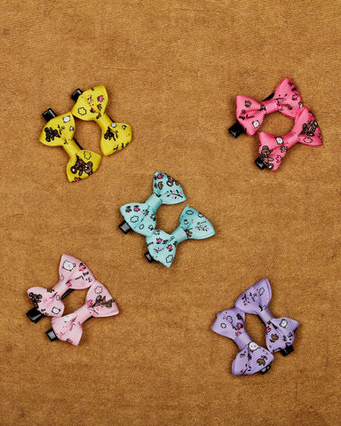 Combo pack of 5 pairs of bow alligator hair clips