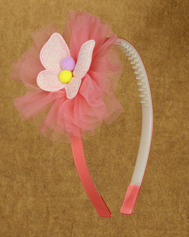 Butterfly bow hair band - Pink