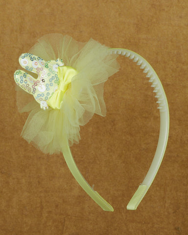 Sparkly bunny hair band - Yellow
