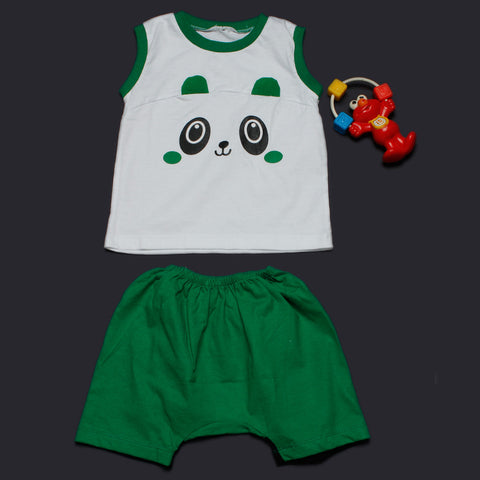 Copy of Panda Ears Vest Shorts Set - Green