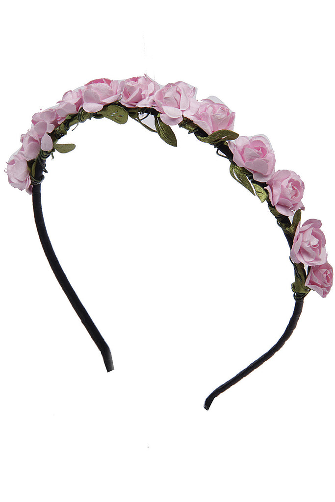Baby Pink Roses flower garland hairband