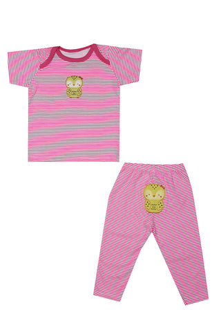 Cute Owl Pink Night Suit