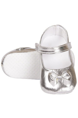 Silver Shoes with Bow