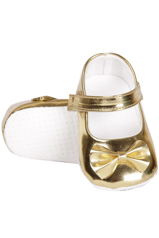 Golden Shoes with Bow