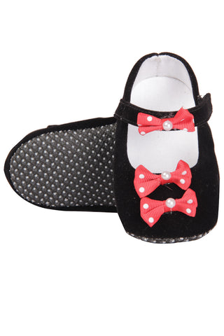 Black shoes with Red Bows