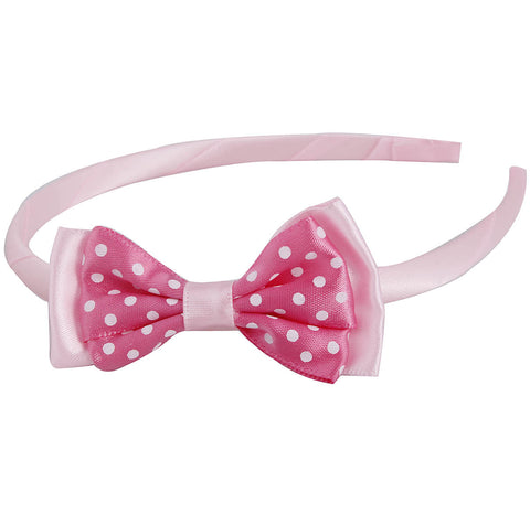 Grograin polka bow hairband