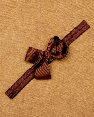 Knotted bow headband - Brown