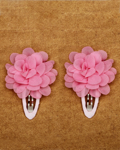 A pair of floral tic-tac hair clips - Pink