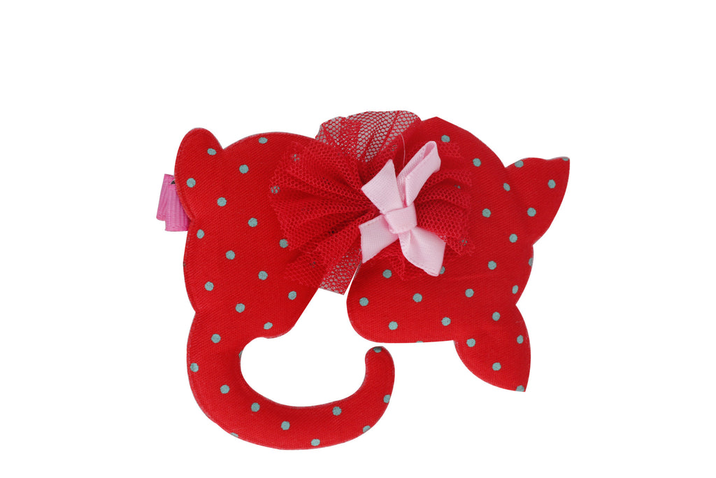 Soft Kitty Hair Clip - Red
