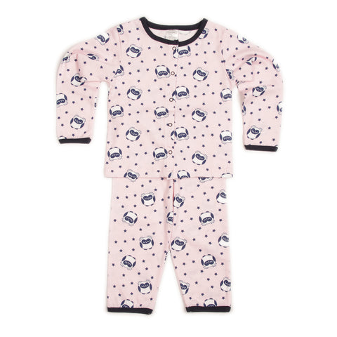 Owl Print Pink Top and Pant Set