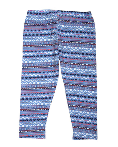 Abstract Print Lavendar 3/4th Legging