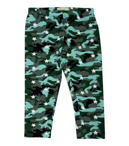 Camo with white star Printed 3/4th Legging