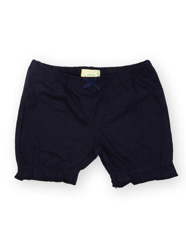 Solid navy shorts