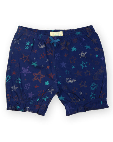 Blue base star printed shorts