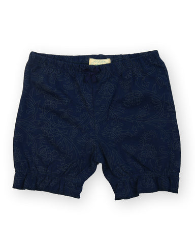 Navy base abstract print shorts
