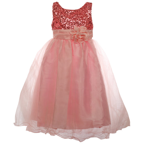 Gorgeous Little Lady Gown- Flamingo