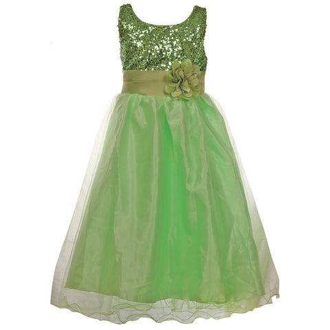 Gorgeous Little Lady Gown- Lime Green