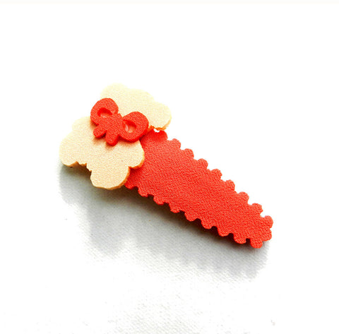 Felt Teddy Tie tic tac - Orange