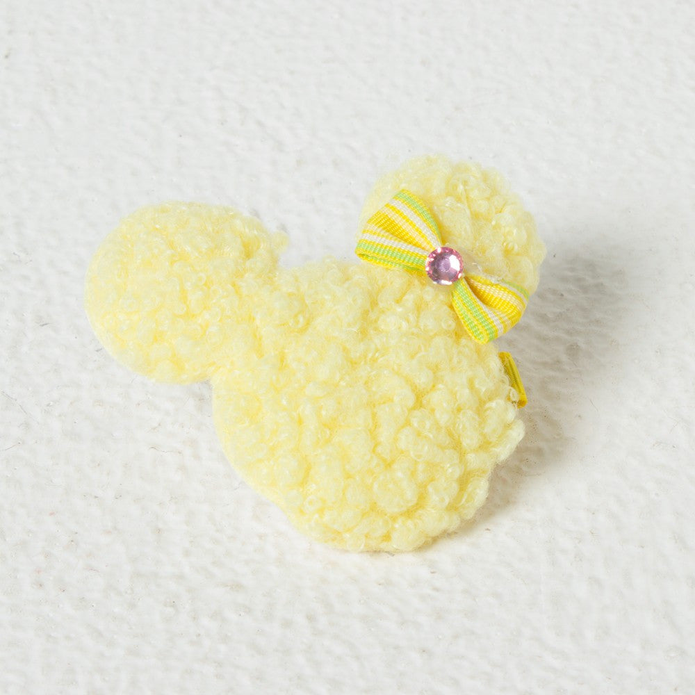 Minnie Face Clip - Yellow