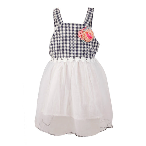 Strappy Gingham Frock - Black