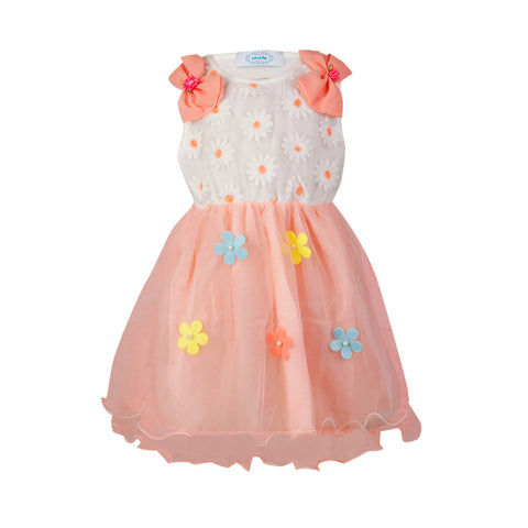 Bow Shouldered Dress - Baby Pink