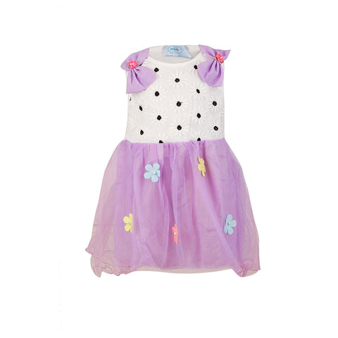 Bow Shouldered Dress - Purple