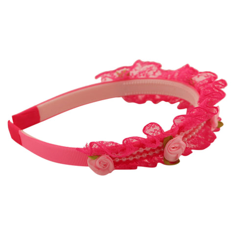 Little girl's lace hairband
