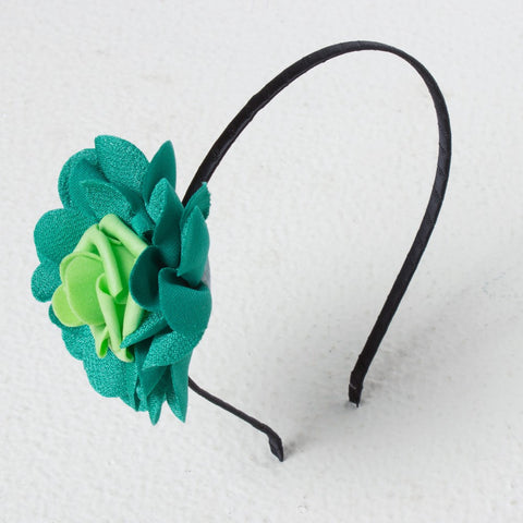 Textured Rose Hairband - Green