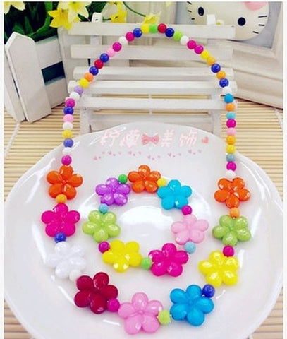 Bright Flowers Jewellery Set