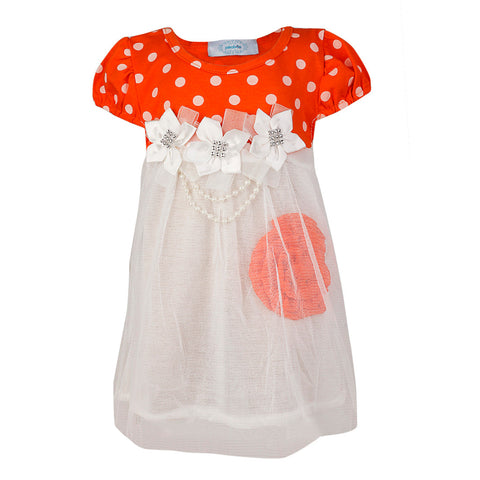 Princess Flora Dress - Orange