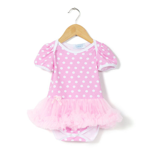 Pink Polka Tutu Romper dress