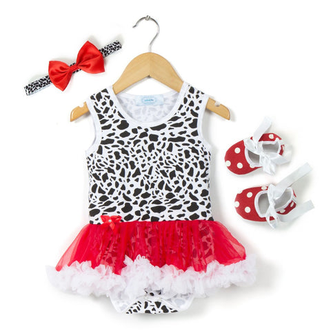 Pretty in red Romper Shoes Headband combo