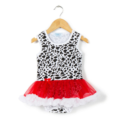 Jungle Red Tutu Romper