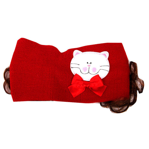 Pikaboo Bandana with Kitty - Red