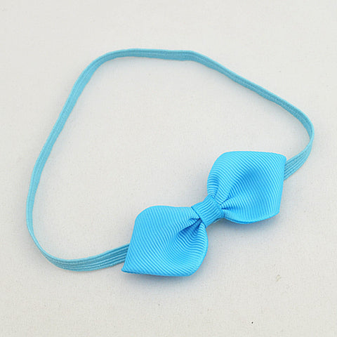 Petal Bow headband - sky blue