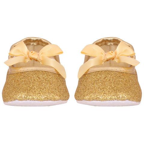 Paint me Gold ballerina shoes