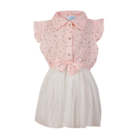 Collared Smart Dress - Pink