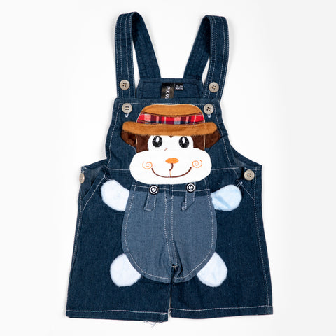 Denim Dungaree with patch work